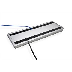 MAX14-23 (Metallic Silver) Mockett Cable Management Desk Grommet Metal