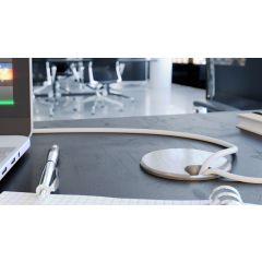 MM3-26D (Satin Chrome) Mockett Cable Management Desk Grommet Metal