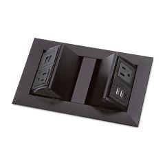 PCS36/2/A/U1-90 (Satin Black) mockett pop-up electrical outlet power grommet usb