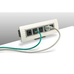 PCS38-94 (Anodized Aluminum) desk mount electrical outlet edge mount power