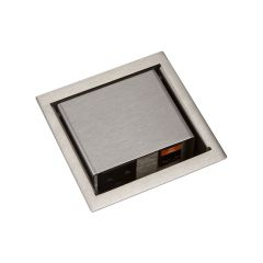 PCS45-SSS (Satin Stainless) mockett pop-up electrical outlet power grommet