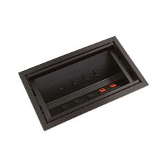PCS46/AL/U1-90 (Satin Black) mockett desktop power grommet outlet usb