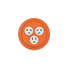 PCS73-53 (Orange) mockett desktop power grommet outlet