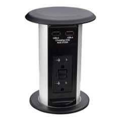 PCS77A-90M (Matte Black) pop up electrical outlet kitchen counter power