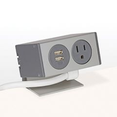 PCS80A/USB-92 (Grey) desk mount electrical outlet edge mount power