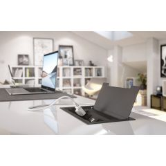 PCS90/4E/U1-90 (Matte Black) mockett desktop power grommet outlet usb