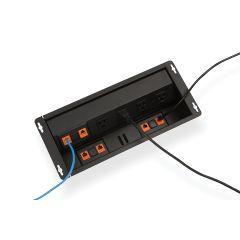PCS92-90 (Matte Black) mockett desktop power grommet outlet