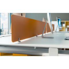 "PGRP1A-94 (1/4"" Satin Aluminum) Mockett Privacy Panel Grip Panel Bracket Divider"
