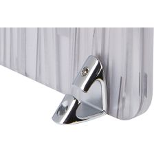 PGPRP9/PR-26 (Polished Chrome) Mockett Privacy Panel Grip Panel Bracket Divider