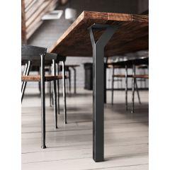 TL68-90 (Black) Mockett Table Leg Metal Furniture Leg Dining Bar Desk Height