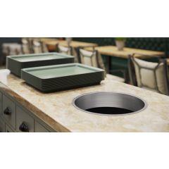 TM12B-PSS (Polished Stainless Steel) Mockett Trash Management Grommet Liner