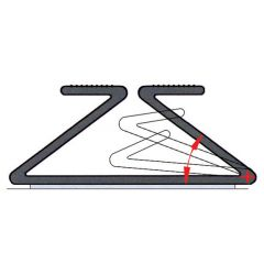WM28-90 (Black) Mockett Desk Cable Management Wire Widget