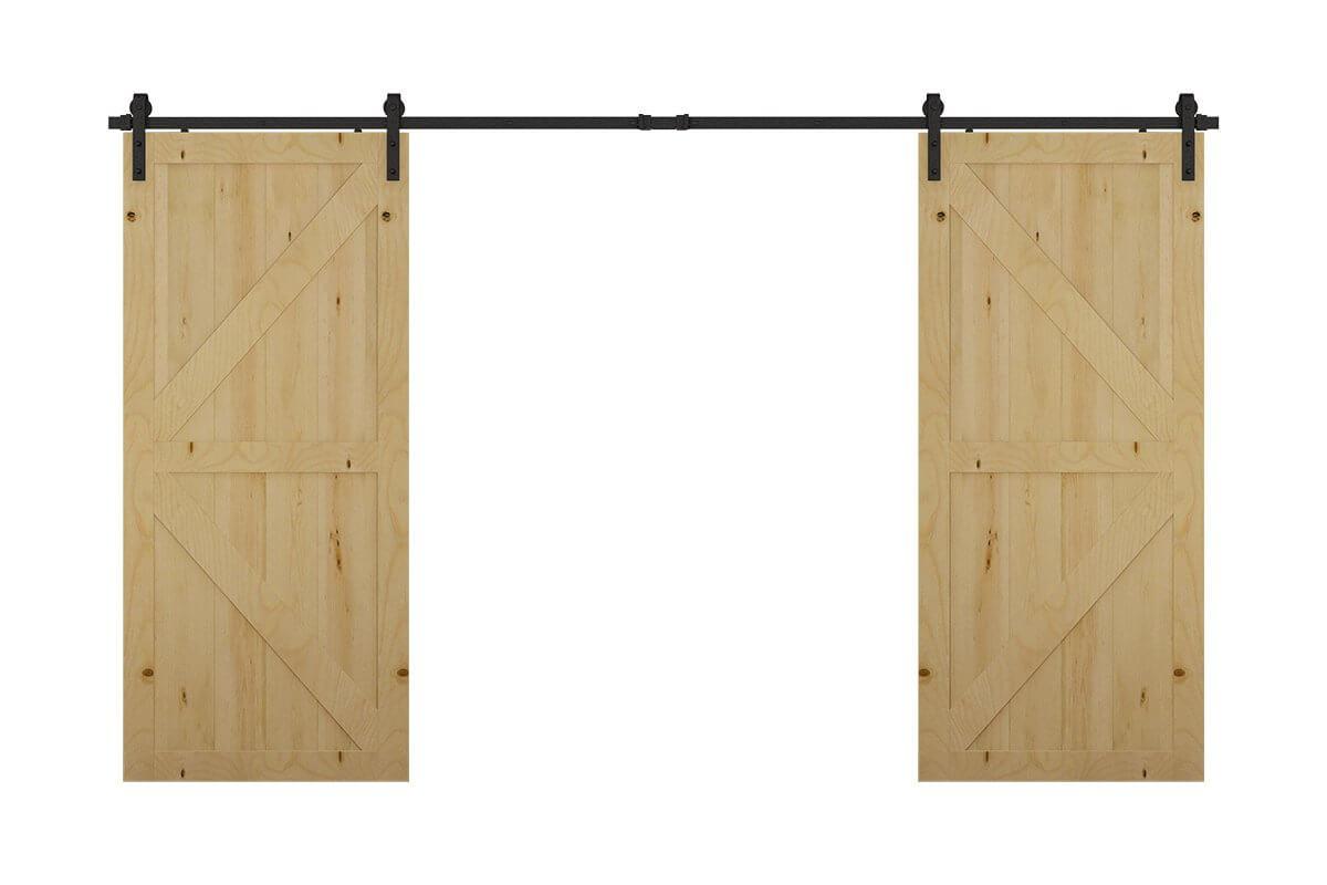 SDH3 Mockett Barn Door Hardware Sliding Door Track