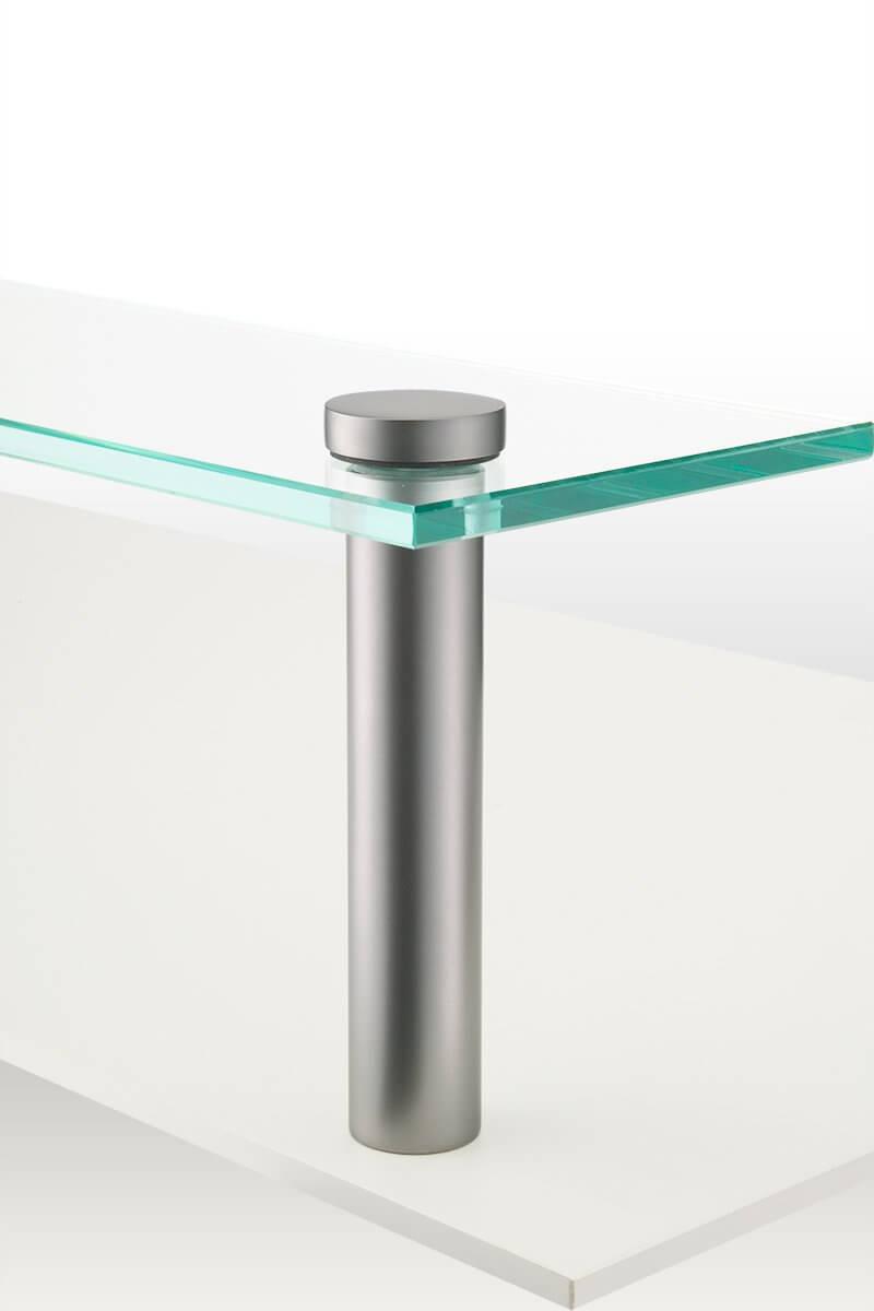 MPB3A-26C (Crystallite Chrome) Mockett Glass Standoffs Panel Hardware