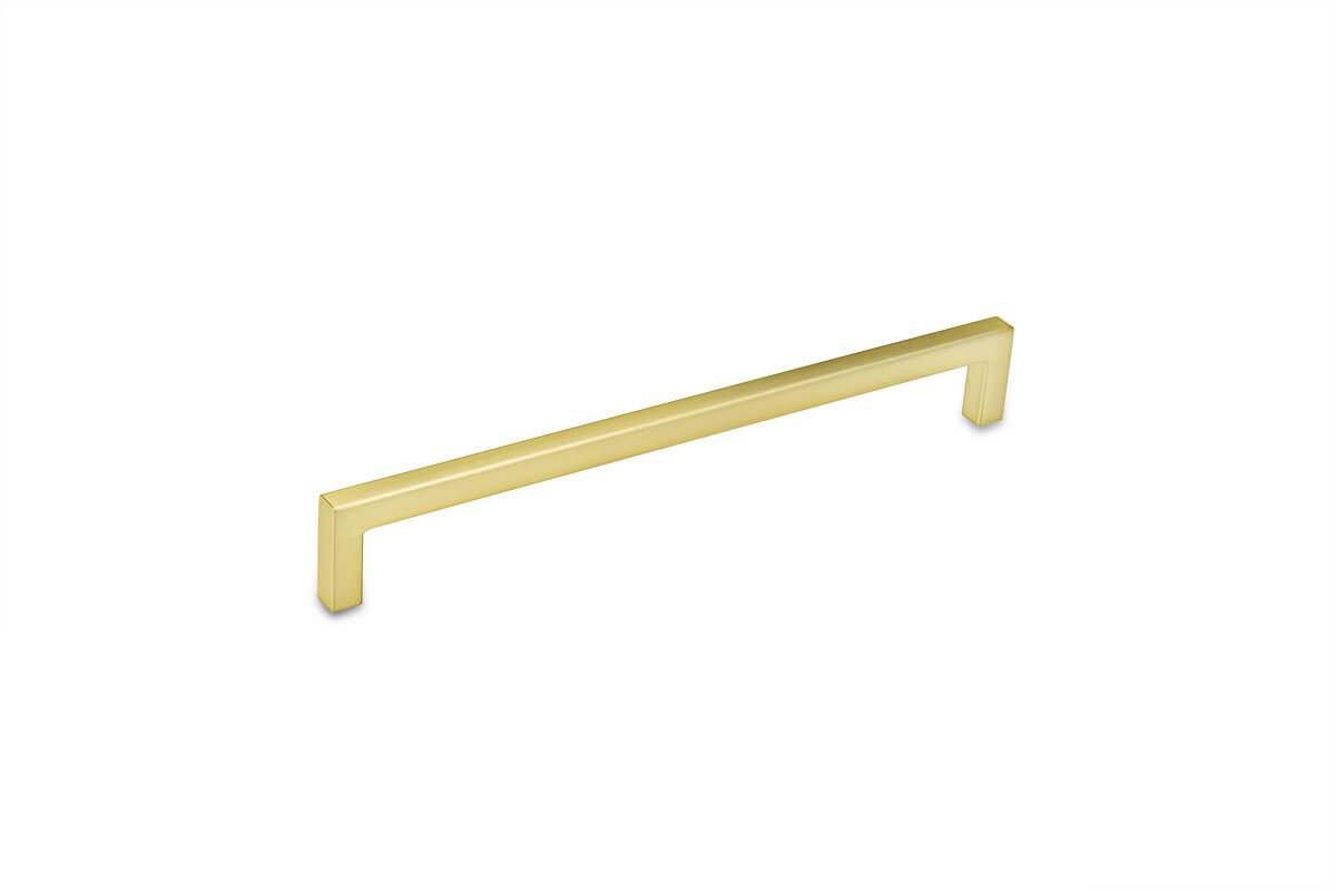 DP252B-4 (Satin Brass) Mockett Drawer Pull Cabinet Hardware Handle Bar Pull