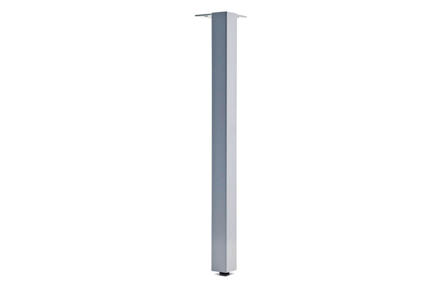 TL27R-2SQ-23 (Metallic Silver) Mockett Table Leg Metal Furniture Leg Dining Bar Desk Height